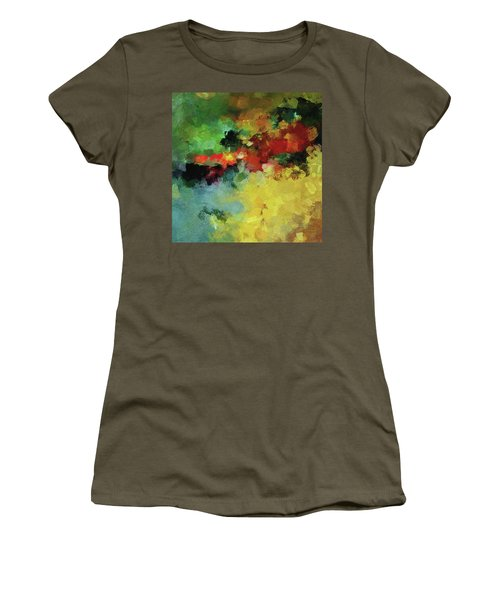 Abstract And Minimalist  Landscape Painting Women's T-Shirt (Junior Cut) by Ayse Deniz