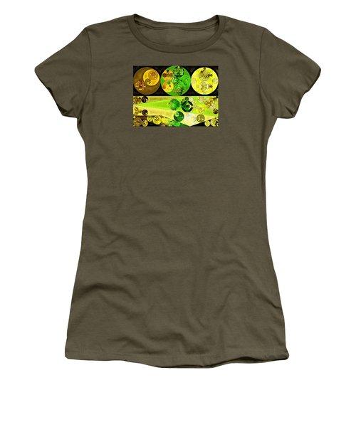 Women's T-Shirt (Junior Cut) featuring the digital art Abstract Painting - Starship by Vitaliy Gladkiy