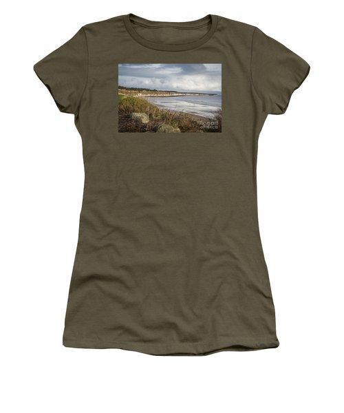 Across The Bay Women's T-Shirt (Junior Cut) by David  Hollingworth