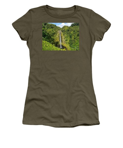 Akaka Falls Women's T-Shirt (Athletic Fit)