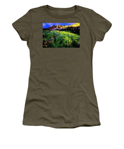 Women's T-Shirt (Athletic Fit) featuring the photograph Albion Basin by Norman Hall