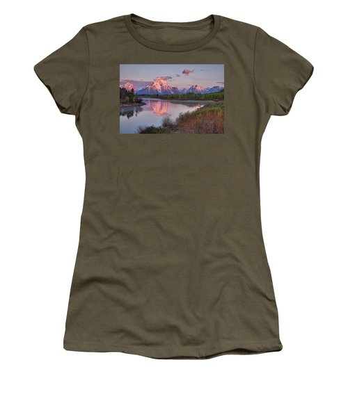 Alpenglow At Oxbow Bend Women's T-Shirt