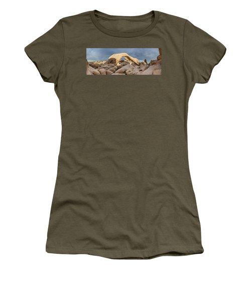 Arch Rock Panorama In Joshua Tree Women's T-Shirt (Junior Cut) by Joe Belanger