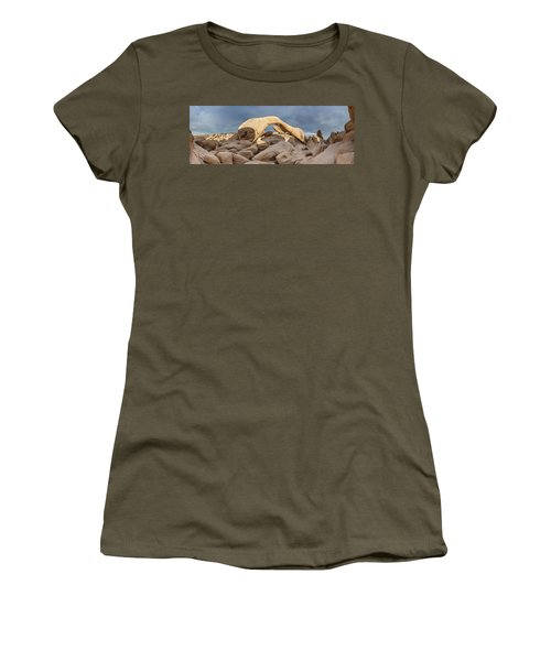 Arch Rock Panorama In Joshua Tree Women's T-Shirt (Athletic Fit)