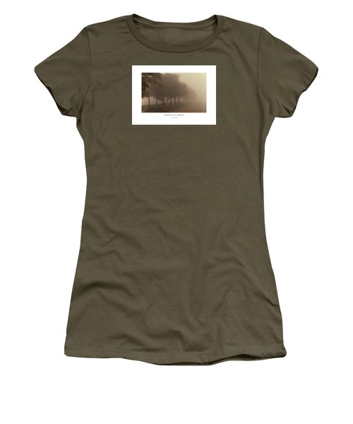 Women's T-Shirt featuring the digital art Avenue Des Arbres by Julian Perry