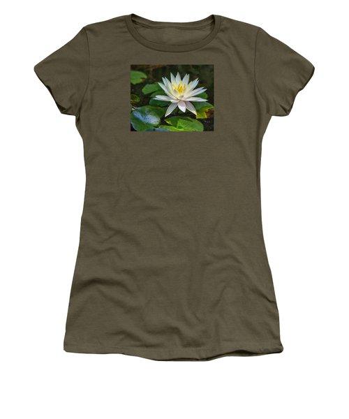 Beautiful Lotus Women's T-Shirt (Junior Cut) by Susi Stroud