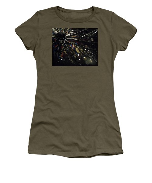 Women's T-Shirt (Junior Cut) featuring the mixed media Black Hole by Angela Stout