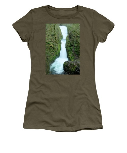 Women's T-Shirt (Junior Cut) featuring the photograph Bridal Veil Falls by Jeff Swan