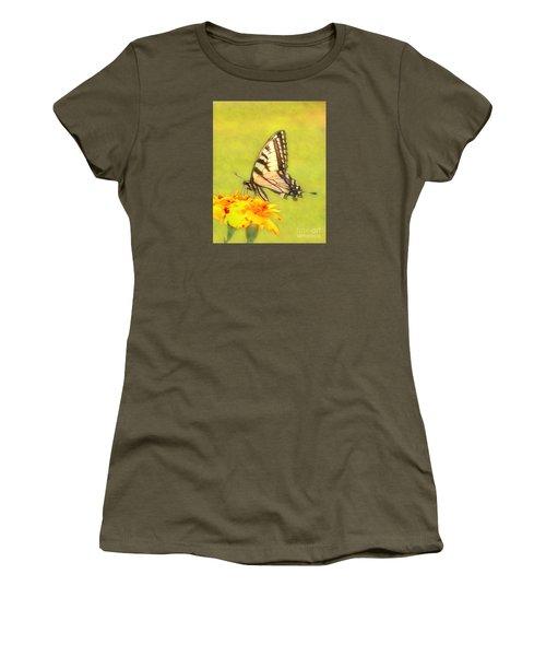 Butterfly Women's T-Shirt (Junior Cut) by Marion Johnson