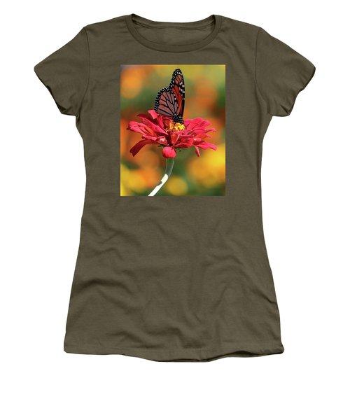 Butterfly On Zinnia Women's T-Shirt