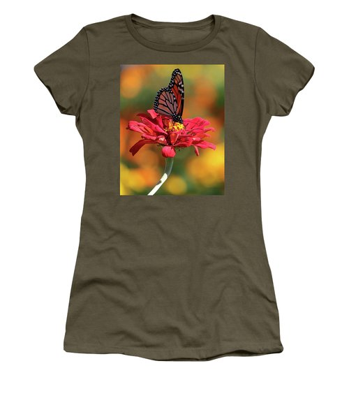 Butterfly On Zinnia Women's T-Shirt