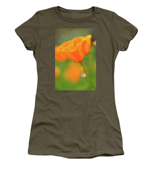 California Spring Poppy Macro Close Up Women's T-Shirt