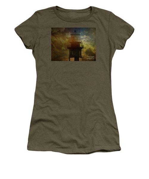 Cape Henry Lighthouse Women's T-Shirt (Junior Cut) by Melissa Messick