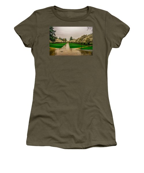 Women's T-Shirt (Junior Cut) featuring the photograph Cherry Blossoms by Jerry Cahill