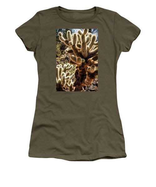 Women's T-Shirt (Junior Cut) featuring the photograph Cholla Cacti by Lawrence Burry