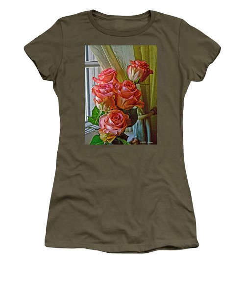 Women's T-Shirt (Junior Cut) featuring the photograph Cindy's Roses by Bonnie Willis