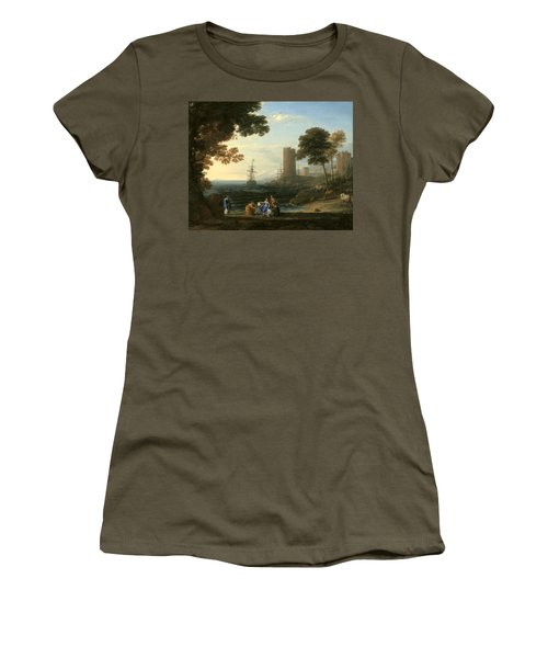 Coast View With The Abduction Of Europa Women's T-Shirt