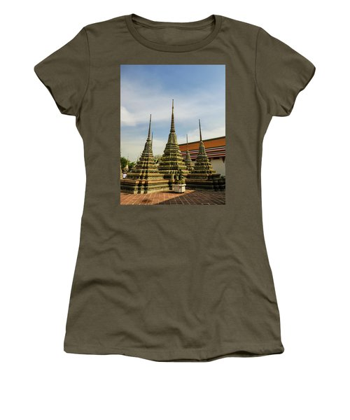 Colorful Stupas At Wat Pho Temple Women's T-Shirt