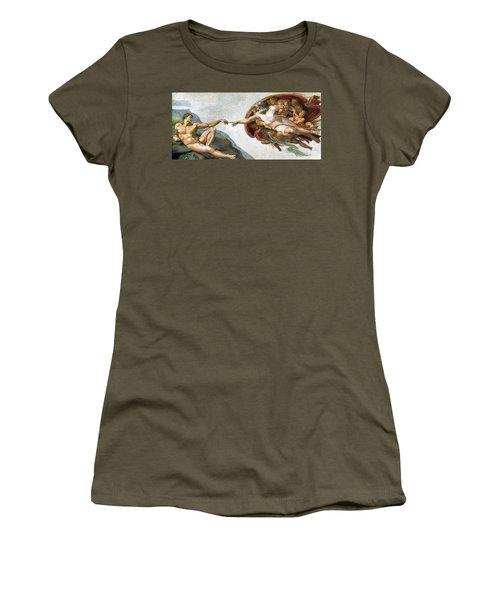 Creation Of Adam Women's T-Shirt
