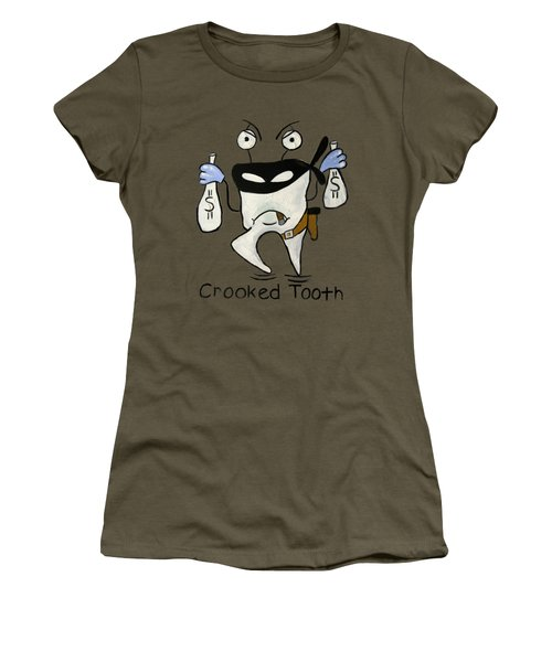 Women's T-Shirt featuring the painting Crooked Tooth by Anthony Falbo