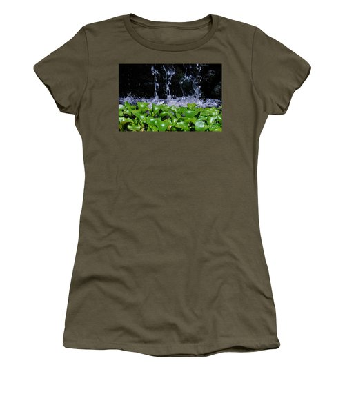 Dancing Water Women's T-Shirt (Athletic Fit)