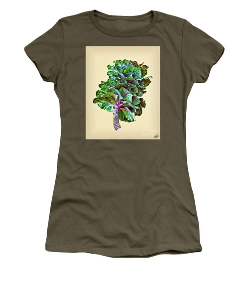 Women's T-Shirt (Junior Cut) featuring the photograph Decorative Cabbage by Walt Foegelle