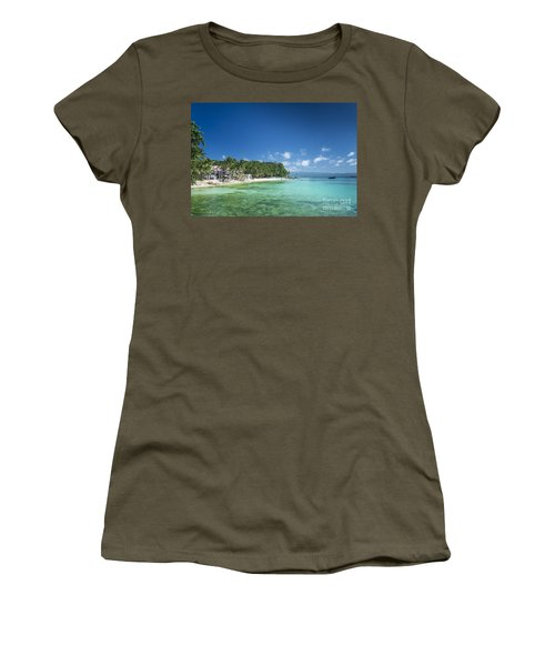 Diniwid Beach In Tropical Paradise Boracay Philippines Women's T-Shirt (Athletic Fit)