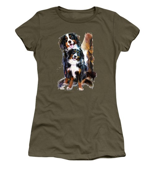Dog Family Women's T-Shirt (Athletic Fit)