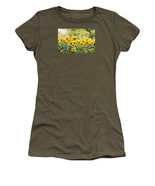 Earth Laughs In Flowers Women's T-Shirt (Junior Cut) by Lila Fisher-Wenzel