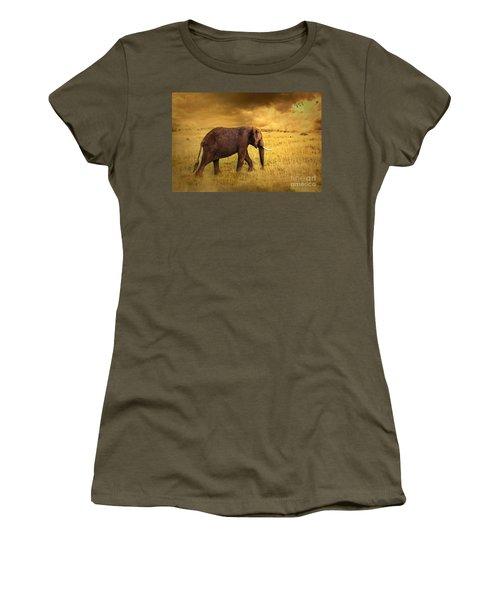 Elephant Women's T-Shirt (Athletic Fit)