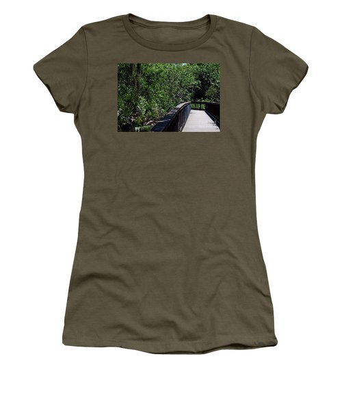 Women's T-Shirt (Athletic Fit) featuring the photograph Enchanted Walk by Gary Wonning