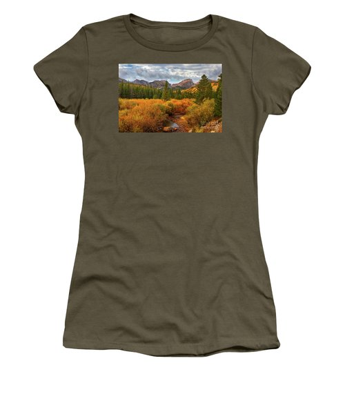 Fall In Rocky Mountain National Park Women's T-Shirt (Junior Cut) by Ronda Kimbrow