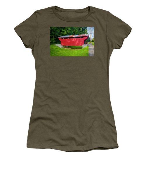 Feedwire Covered Bridge - Carillon Park Dayton Ohio Women's T-Shirt