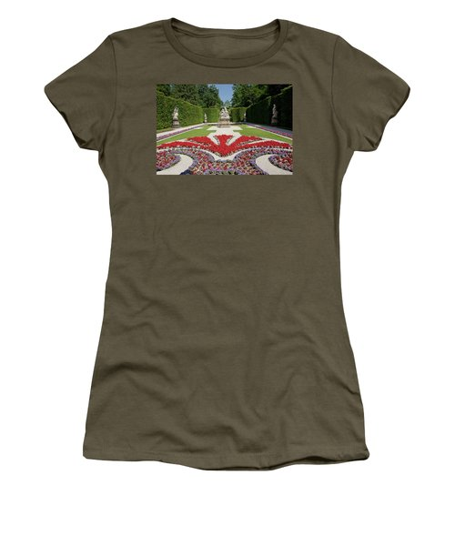 Flowerbeds And Sculptures In Eastern Parterre Women's T-Shirt