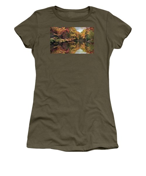 Women's T-Shirt featuring the photograph Foliage Reflections by Jessica Jenney