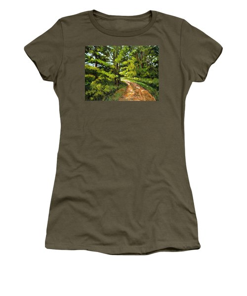 Forest Pathway Women's T-Shirt (Junior Cut) by Alexandra Maria Ethlyn Cheshire
