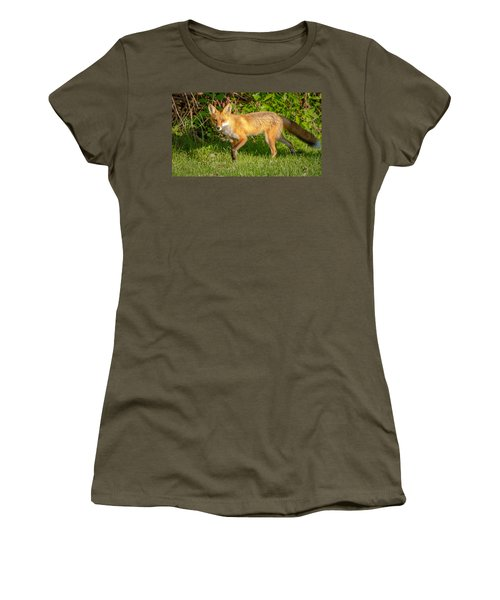 Fox Portrait  Women's T-Shirt (Athletic Fit)