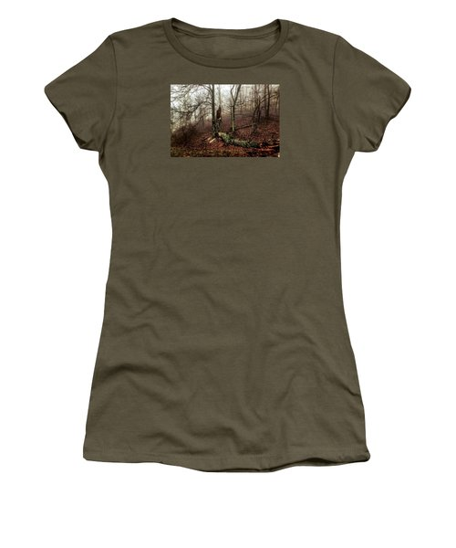 Fractured In Fog Women's T-Shirt (Junior Cut) by Deborah Scannell