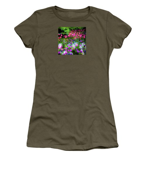 Garden Flowers With Tulips Women's T-Shirt