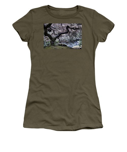 Garden View In Blue Women's T-Shirt