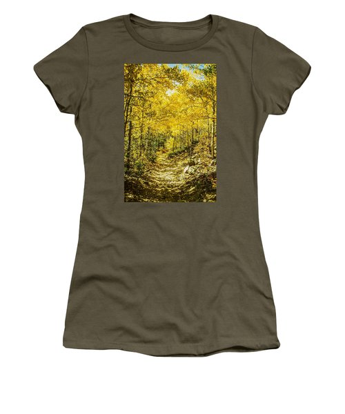 Golden Aspens In Colorado Mountains Women's T-Shirt