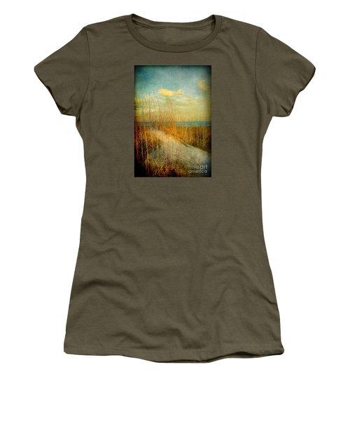 Women's T-Shirt (Junior Cut) featuring the photograph Golden Dune by Linda Olsen