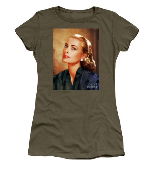 Grace Kelly, Actress And Princess Women's T-Shirt (Junior Cut) by Mary Bassett