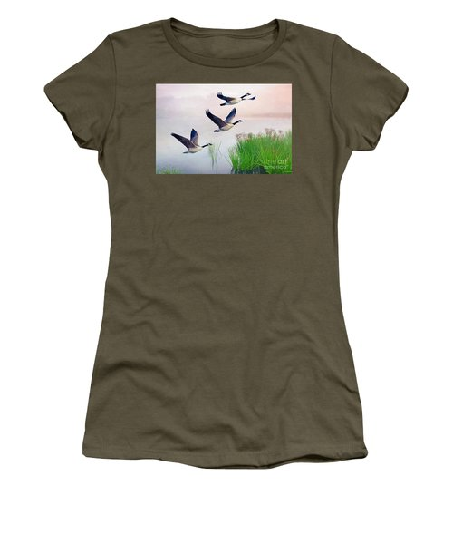 Graceful Geese Women's T-Shirt