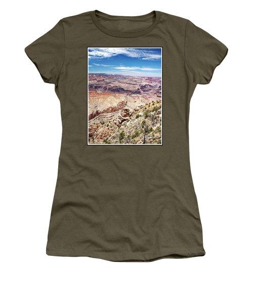 Grand Canyon View From The South Rim, Arizona Women's T-Shirt (Junior Cut) by A Gurmankin