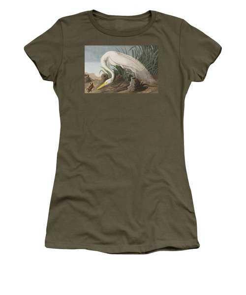 Great Egret Women's T-Shirt (Junior Cut) by John James Audubon
