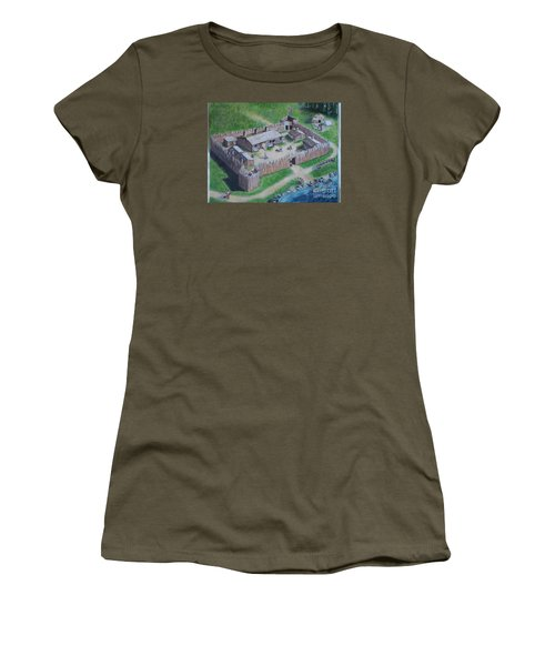 Great Lakes North Trading Post Women's T-Shirt (Junior Cut) by Francine Heykoop