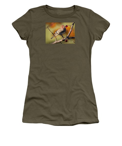 Women's T-Shirt (Junior Cut) featuring the photograph House Finch by Ricky L Jones