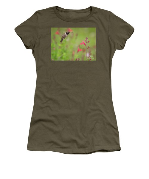 Hummingbird And Sage Women's T-Shirt (Athletic Fit)