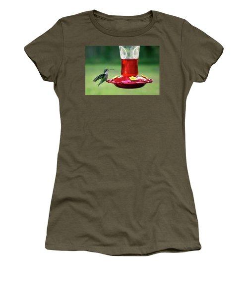 Hummingbird Women's T-Shirt (Junior Cut) by Denis Lemay